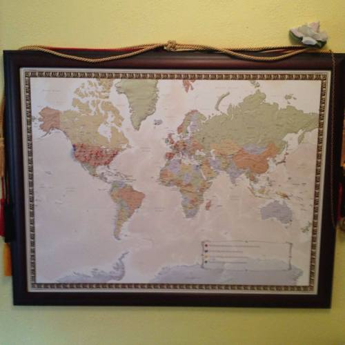 My travel map where I pin the places I've visited and the ones I want to visit!